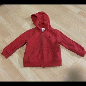 Polo Ralph Lauren Red Cotton Fleece Hoodie 24M